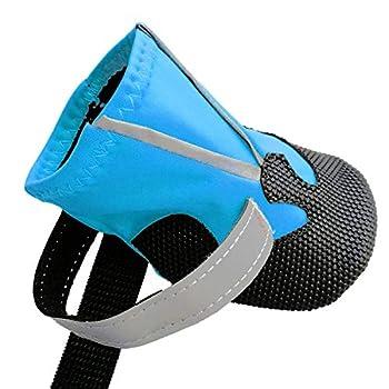 Ewolee Bottes Chien, Botte Protection Chien 4 Pièces Chien Chaussure Respirantes Chausson Antidérapant (M, Lac Bleu)