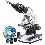 AmScope B120C-E1 Siedentopf Binocular Compound Microscope, 40X-2500X...