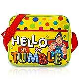 Mr Tumble Bolsa Bandolera Grande Hello Mr Tumble, Bolsa de Mensajero para Colegio, Preescolar, Viaje, Mochilas Escolares Infantiles, Niño, Niña, Regalos Originales para Niños 3 4 5 6 años +