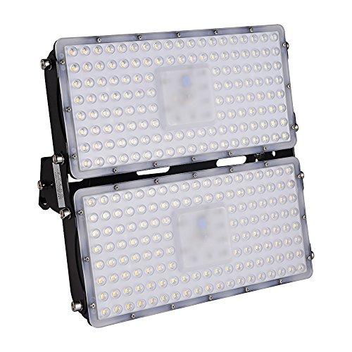 Viugreum- Settima Generazione LED Faro da Esterni Impermeabile 200W 18000 Lumen Luce Super Illuminante Bianco Freddo Modulo Illuminazione LED Faretto da Giardino