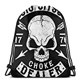 zhufeifan Bolsas de Cuerdas Jiu Jitsu - Choke Dealer Mochila con cordón Plegable para Deporte, Gimnasio, Playa, Yoga, Viaje, Unisex