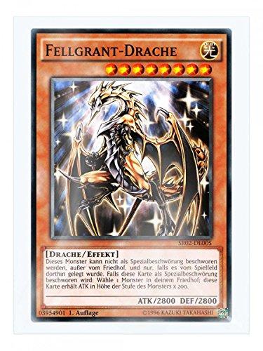 SR02-DE005 Fellgrant-Drache 1. Auflage im Set mit original Gwindi Kartenschutzhülle