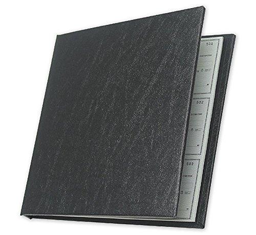 ABC Executive Checkminder Checks Cover, 9 1 2 x 9 3 4, Black