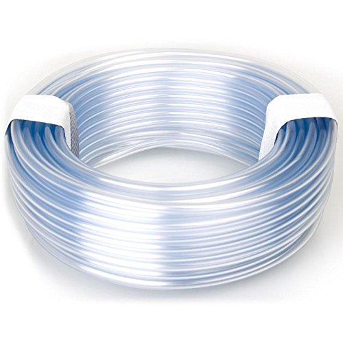 TP Gartenteich 100 mtr. transparenter Luftschlauch 4 x 6 mm transparent, PVC Belüfterschlauch für Luftpumpen und Belüfter Pumpe im Aquarium