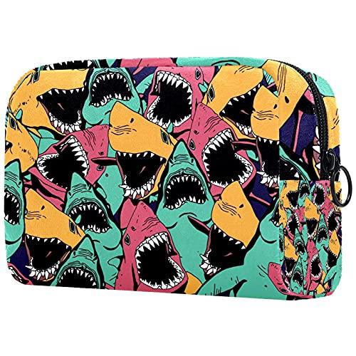 Neceser de viaje, bolsa de viaje impermeable, bolsa de aseo para mujeres y niñas, calavera 18,5 x 7,5 x 13 cm
