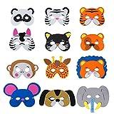 QIMEI-SHOP Tiermasken Kinder Schaumstoff Masken mit Elastischen Seil für Geburtstag...