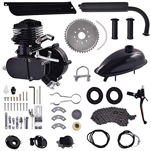 ROMOSS 80cc 2-Stroke High Power Engine Kit Bike Motor Kit Cycle Gas Engine Motor Fit for 24' 26' & 28' Bicycle Scooter Road Bikes,Cruisers, Choppers 80cc Black