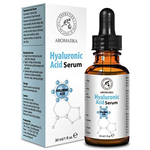 Suero de Ácido Hialurónico 30ml para Cuidado del Rostro y del Cuerpo - Frasco de Vidrio con Ácido Hialurónico para Todo Tipo de Piel - Suero Antienvejecimiento