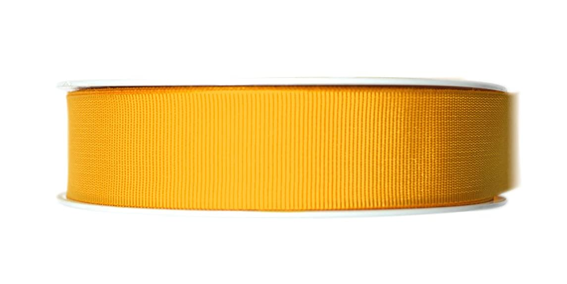 P&B Grosgrain Ribbon, Polyester, Spectra Yellow, 24 mm