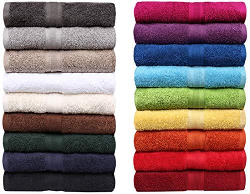 NatureMark Frottee Handtücher Serie Premium Baumwolle 20 Trendfarben in 8 versch. Größen: 6er Set Gästetücher 30x50cm Farbe: Anthrazit grau