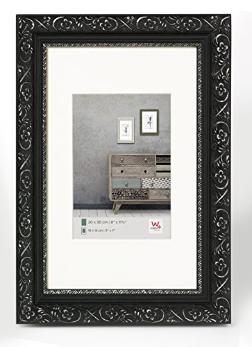 walther design CR030B Holzrahmen Barock, 20 x 30 cm schwarz