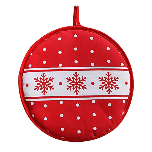 2 paquetes de 12 pulgadas de Navidad copo de nieve calentador de Tortilla de patata mexicano bolsa más caliente para hornear en casa cocina mantiene el calor hasta una hora para maíz o harina Taco