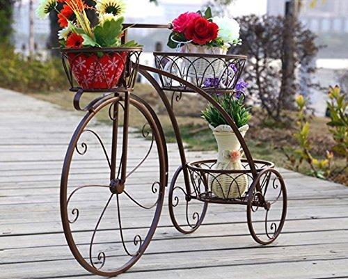 GRY Eisen Multilayer Fahrrad Blumenständer,Bronze