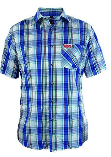 Fifty Five Fifty Five Herren Funktionshemd Andre mit Ouick-Dry-Technologie Freizeithemd, Mehrfarbig (Navy/Lightblue Check 099), 40 (Herstellergröße: M)