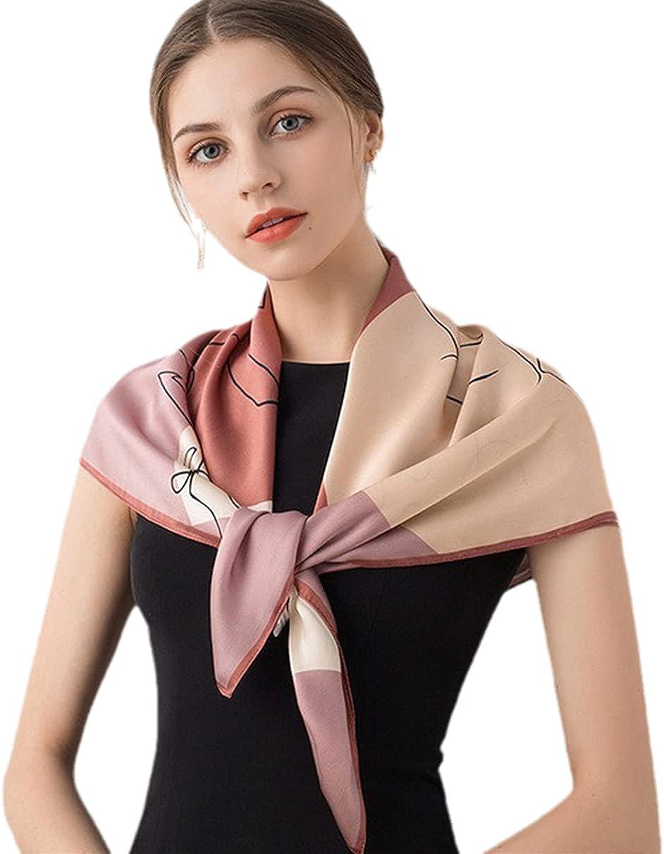 Women 67% OFF of fixed price Square Silk Scarves Wraps Foulard Bandana Ranking TOP11 Real Print