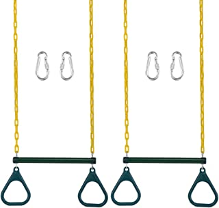 Gorilla Playset Accessories Trapeze Rings in Yellow Set of 2