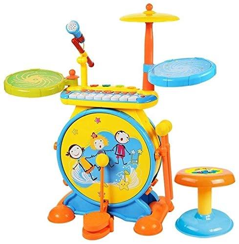 XINRUIBO Tambor de niños Tambores Juguetes Tambores Instrumentos Musicales grifos Jazz Tambores Pianos electrónicos Jugando con micrófonos Tambor electronico (Color : Blue)