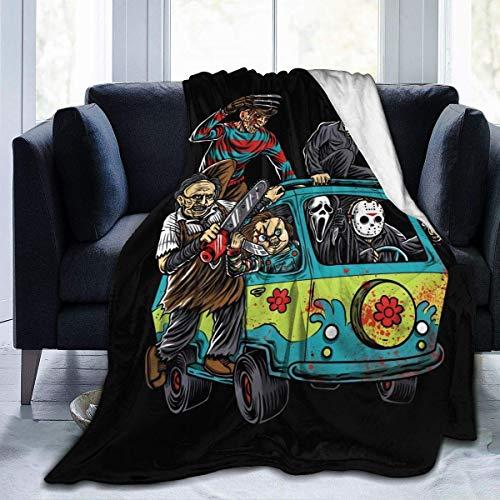 Michael-Myers - Manta de terror, de lujo, cálida y acogedora, manta de franela para sofá, viajes, yoga, camping, picnic, cine, hogar, playa, tamaño para guardería, niños y adultos, 60 x 50 pulgadas