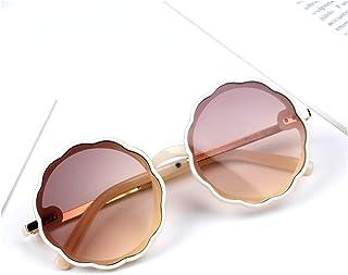 XINGTAO - XINGTAO Gafas de Sol para niños Flower Flower Redonda Niños Lindos Gafas de Sol UV400 para Niños Niñas Niños Precioso Bebé Bebé Glasses Niños (Lenses Color : 05Champagne)
