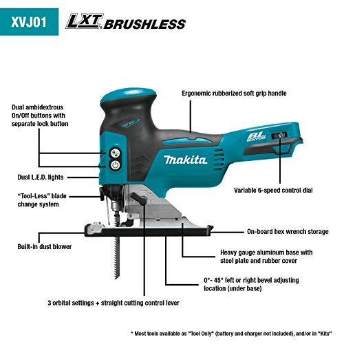Product Image 2: Makita XVJ01Z 18V LXT Brushless Barrel Grip Jig Saw