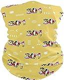 Miedhki Halsmanschette Schlauchmaske 301 Halswärmer Gamasche Sturmhaube Skimaske Kopfbedeckung Outdoor Schal Halstuch