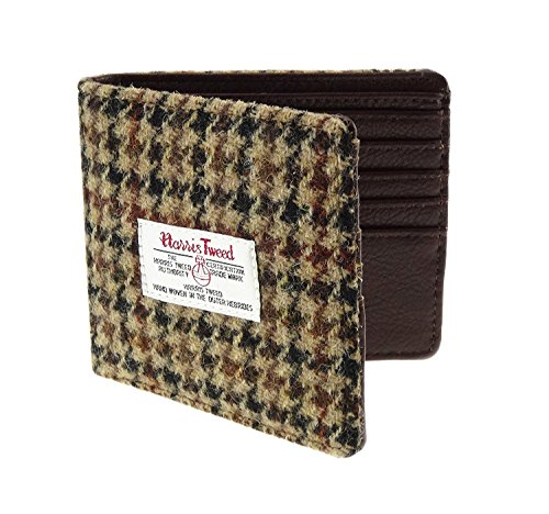 Harris Tweed, da uomo, colore: marrone a portafogli LB2007COL27-poule