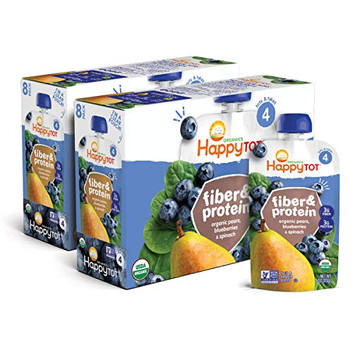 Happy Tot Organic Stage 4 Fiber & Protein, Pears,...