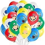BESTZY Super Mario Globo Suministros para Fiesta Niños Decoraciones de Cumpleaños Mario Globos de Látex Super Mario Bros Fiesta Temática 40 Piezas