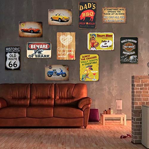 Angeloken Retro Metal Sign Vintage TIN Sign Today's Menu: Take It Or Leave It Sign for Wall Plaque Poster Cafe Bar Pub…