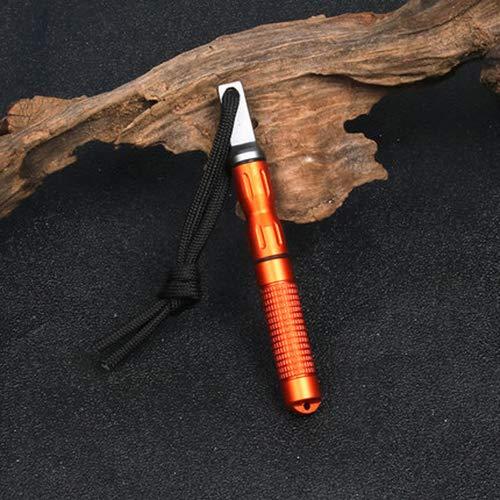 TxDike Lan Taschenüberlebens-Feuer, das Zinn-Fatwood-Hand beginnt, der in Bushcraft Outdoorsman-Jagd geschnitten ist, der Fischen Ferro Rod Striker schneidet,Green