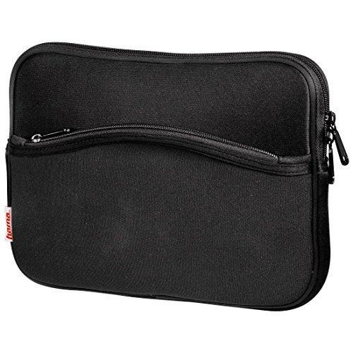 Hama Notebook-Cover Comfort (Schutzhülle für Notebook / Netbook / Laptop, Notebooktasche geeignet für Computer bis 26 cm / 10,2 Zoll Displaydiagonale, Laptoptasche stoßfest, gepolstert) schwarz