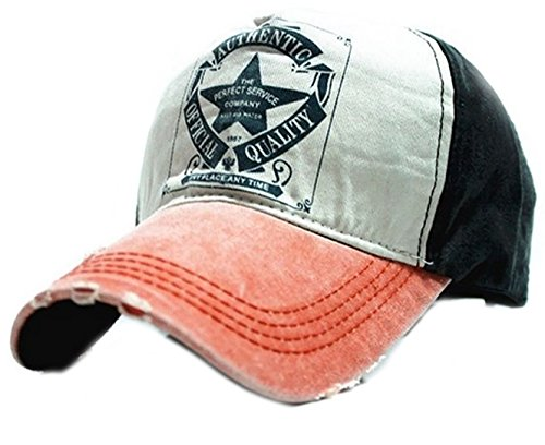 Morefaz Baseball Cap Bonnet Star Chapeau Sport Casquette Snapback Hip-Hop Snap Back Trucker MFAZ Ltd (Orange Peak)