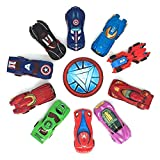 Delivers 10 of the coolest avenger themed die-cast collectible vehicles The die cast cars set are made of high quality METAL and plastic materials, which is more sturdy and durable, 1:64 die cast car kit in 1 set with display box. Activities bulk all...