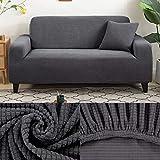 LINL Sofá Cama Jacquard protección sólida y setos Gruesos para Cubrir sofá Viviente para sofá Impreso,Gris Oscuro,1 90-140cm Asientos