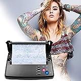 SEAAN Transfert de tatouage imprimante de pochoir de tatouage Machine de copieur thermique avec 10 pièces papier de transfert de tatouage thermique et 500 motifs numériques