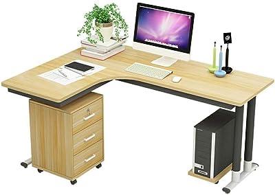 オフィスコーナーデスク、隆起を防ぐために設計された角の丸いゲームコンピュータデスク、L字型の学生用ライティングデスク、会社のワークテーブル、強化ボード、防水、丈夫、コンパに適した