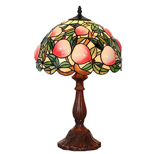 WYMI Tiffany Style Bunt Glasfee Tischlampe 12 Zoll Europäische Retro-Wohnraum Schlafzimmer Studie Nachttischlampe,A