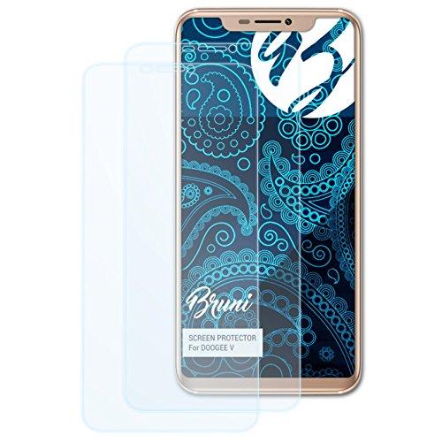Bruni Schutzfolie kompatibel mit DOOGEE V Folie, glasklare Bildschirmschutzfolie (2X)