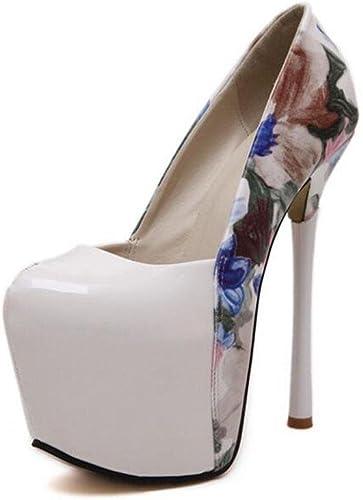 HIGHXE Summer Fine High Heels zapatos Solos para mujer Nightclub plataforma Impermeable Empalme MultiColor