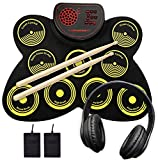 Electric Drum Set- Musical Instruments- Drum Set for Toddlers- Kids Toys & Electronics- Drum Practice Pads-Early Learning- Electric Drum Set for Adults