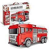 Modelo De Bloques De Camión De Bomberos City 2 En 1,City Street Fire Rescue Juego De Construcción De Camión De Bomberos,1547 Piezas Compatible Con Lego, El Modelo De Construcción No Es Creado Por Lego