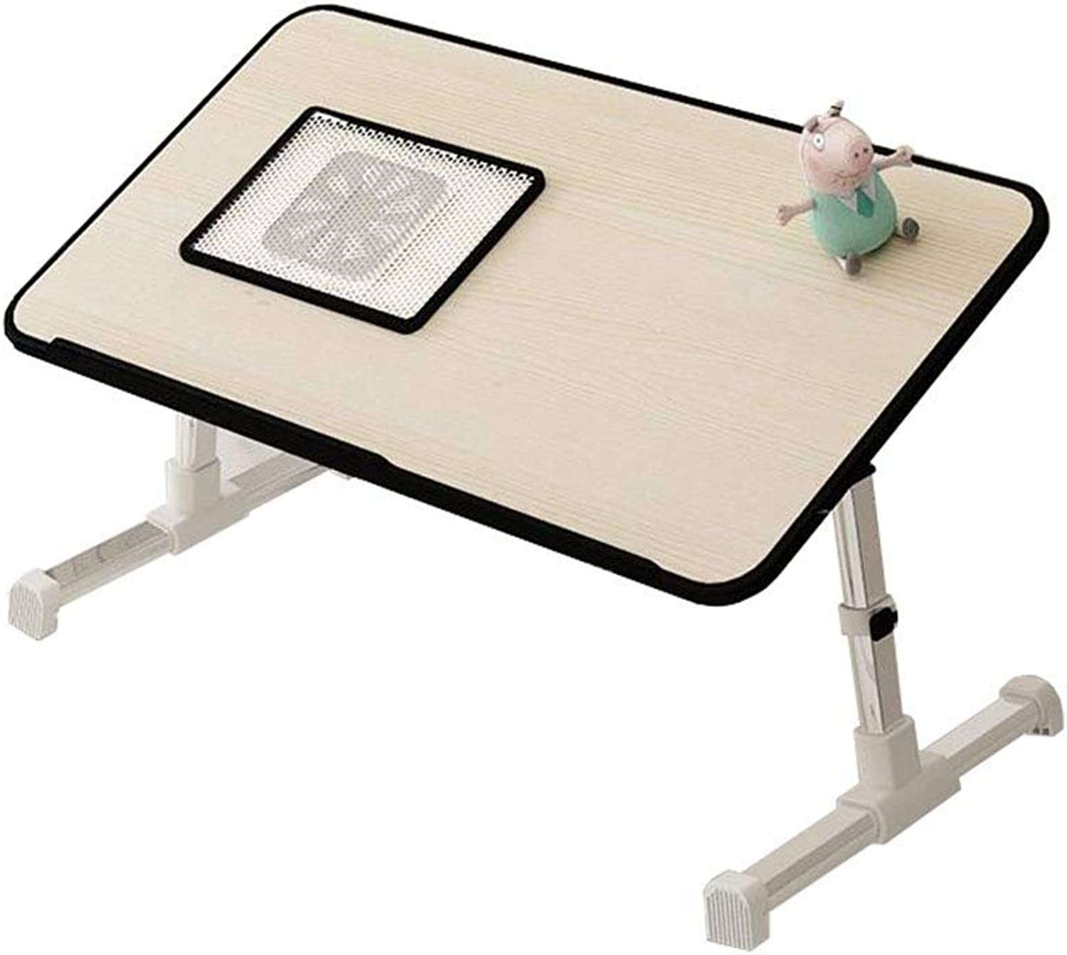 LiTing-Folding Table Bed Small Table Folding Table Computer To Do Table Simple Home Small Desk Small Table Bedroom Lazy Table College Dormitory Dormitory Multi-function Notebook Study Table Simple Min