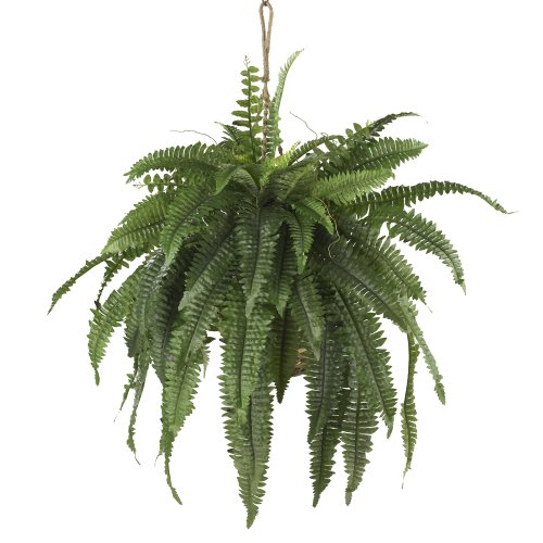 Outdoor Fake Hanging Boston Fern Plants That Look Real