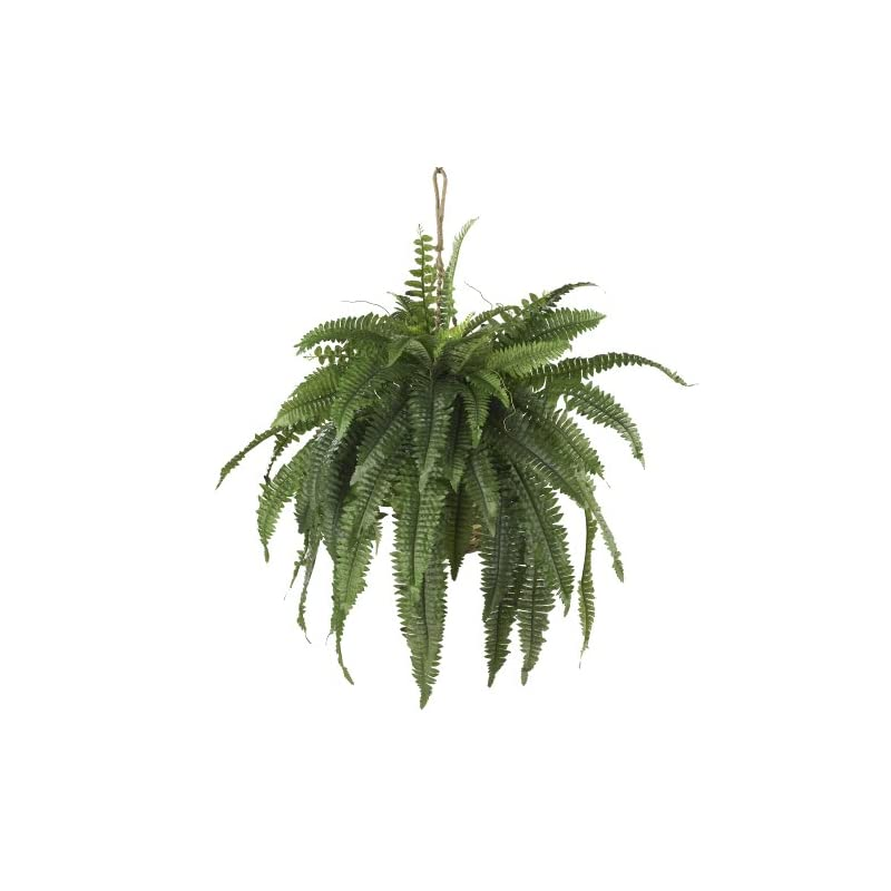 silk flower arrangements nearly natural 6774 22in. large boston fern hanging basket,green