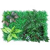 househome Pared de Plantas, tapete de césped para Plantas de Arte, tapete con Plantas Artificiales, jardín Vertical como enverdecimiento de la Pared, Pantalla de privacidad en la Cerca o balcón