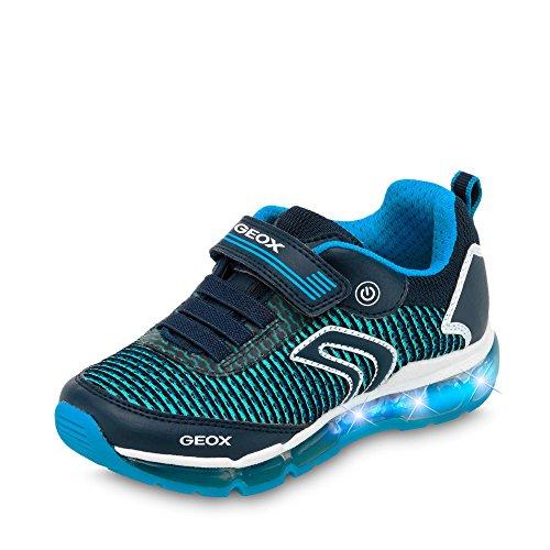 Geox Jungen J Android Low-top A Sneaker, Blau (Navy/Lt Blue), 37 EU