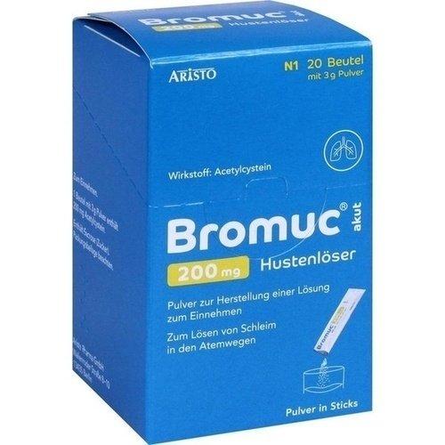 BROMUC akut 200 mg Hustenlöser Plv. z. H. e. L. z. Einn. 20 St