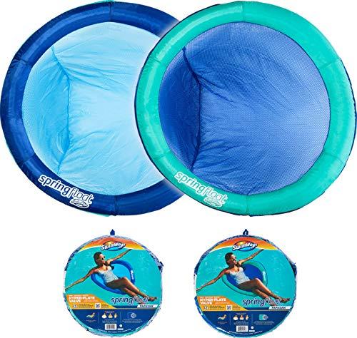 SWIMWAYS - SIÈGE PISCINE - Spring Float Papasan - Siège Gonflable de Piscine Tissu Avec Valve Gonflage Facile - 6061308 - Couleur Aléatoire