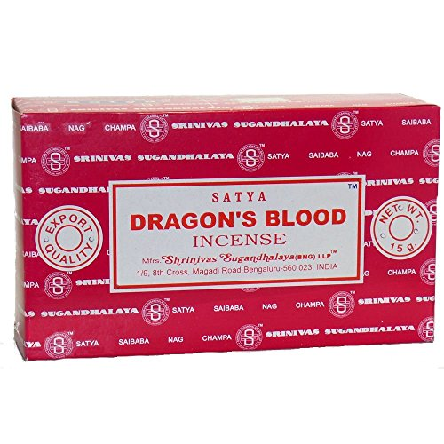 "Satya Nag Champa Räucherstäbchen, Duftsorte ""Dragon's Blood"", BOX-12-PACKS"
