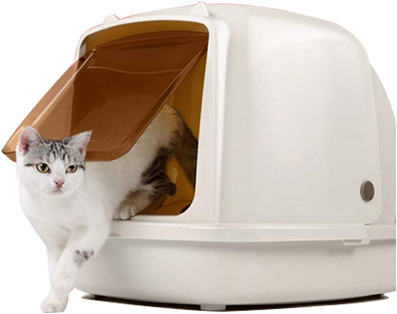 BYCWS Hooded Cat Litter Box,Fully Enclosed Cat Toilet,25x18x19in